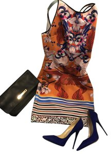 Clover Canyon short dress Orange Prism Orchid Neoprene on Tradesy