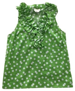 Kate Spade Top Green and White