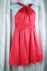 David's Bridal short dress Coral Fit And Flare Summer/beach Sleeveless Knee Length on Tradesy