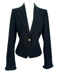 Gucci Tom Ford Pleted Cuffs Black Blazer