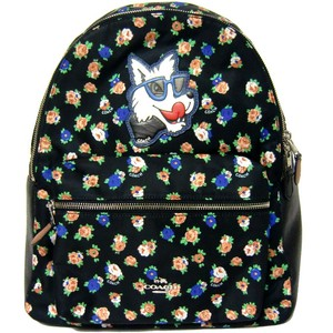 Coach School Floral Nylon Backpack