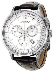 Movado CIRCA MENS 42mm Stainlesssteel case CHRONO SWISSQUARTZ WATCH 0606575