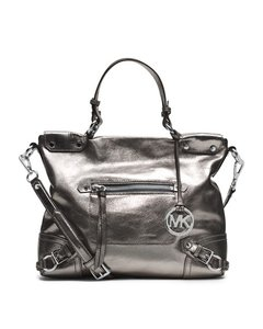 Michael Kors Kors Kors Mk Metallic Mk Fallon Mk Metallic Hobo Bag