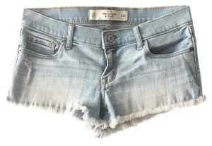 Abercrombie & Fitch Cut Off Shorts light blue