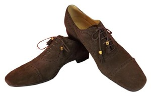 Gucci Cocoa/Queen Mens Cambridge Brogue Bamboo Oxford 11.5 12.5 368440 Shoes