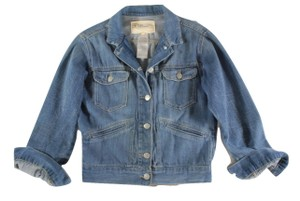 toile Isabel Marant Denim Yakine Cropped Blue Jacket