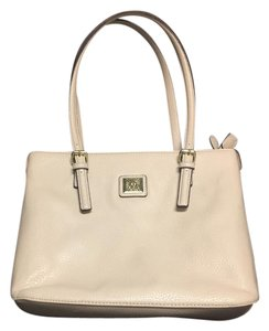 Anne Klein Summer Spring Polka Dot Tote in Cream
