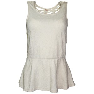 Free People Crochet Floral Sleeveless Top Ivory