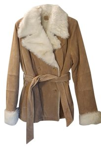 Wilsons Leather Faux Fur Suede Leather Fur Coat