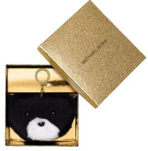 Michael Kors NIB MICHAEL KORS TEDDY BEAR FUR POM POM KEY CHAIN RING CHARM FOR BAG $