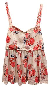 Urban Outfitters Boho Top Coral, White, Navy