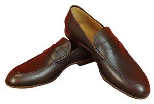 Gucci Mens Patmos Cocoa Leather Interlocking Gg Dress Penny Loafer 11.5