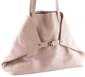 Akris Silver Hardware Tote in Pink