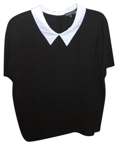 Vince Camuto Top Black, White Collar