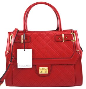 Calvin Klein Satchel in RED