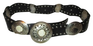 Chico's studded wide leather concho