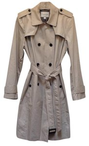 Banana Republic Double Breasted Longsleeve Belted Trench Raincoat