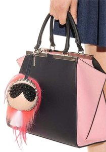 Fendi New Fendi Karlito Punkarlito Studded Charm Monster Handbag
