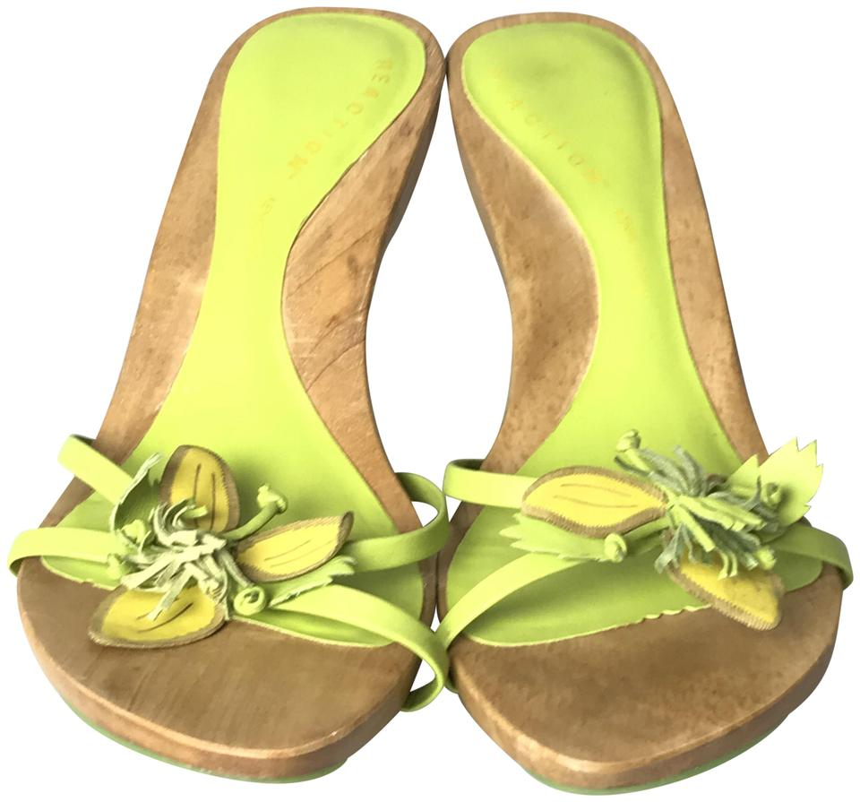 c80596d07f7f61 Kenneth Cole Reaction Lime Green Slip On Heel Sandals Size US 8 ...
