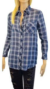 Tolani Button Down Shirt dark blue