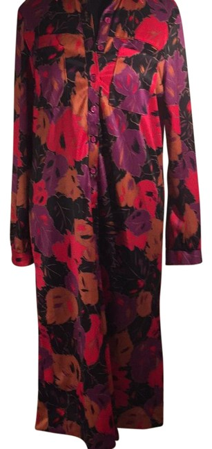 Item - Multicolored 10976-3 Mid-length Work/Office Dress Size 12 (L)