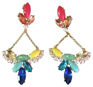 Lulu Frost Multi Colored Jeweled Earrings
