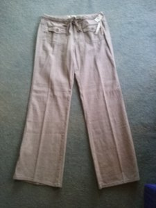 Be Bop Junior Khaki Stretch Brand New Flare Pants 2 Tone Brown Woven Canvas Style Pants