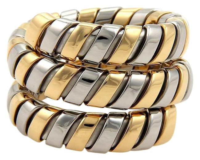 Item - Yellow Gold & Steel Tubogas 18k Wide Wrap Band Size 6.5 Ring