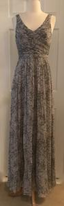 J.Crew Orchid Smoke J.crew Heidi Long Dress In Watercolor Silk Chiffon Size 4 Orchid Smoke Dress
