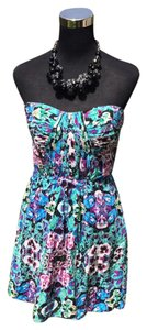 Twelfth St. by Cynthia Vincent short dress black/green/blue/magenta on Tradesy