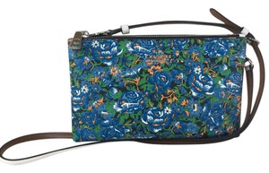 Coach Leather Floral Rose Cross Body Bag