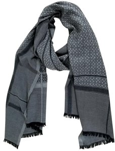 Salvatore Ferragamo salvatore ferragamo gancio /plaid scarf grey