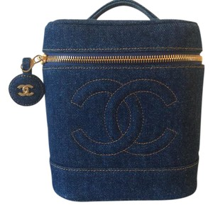 Chanel Blue Denim Clutch