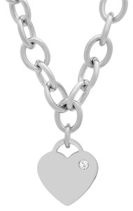 HMY Jewelry HMY Crystal Heart Charm Necklace 18