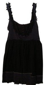 Mystree Unfinished Seams Top Black/Gray