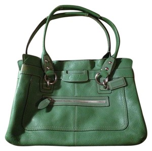 Coach Green Leather Handbag Handbag Tote in Light Green