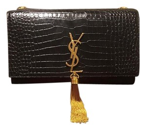 d57cea2033f0 Saint Laurent 30% OFF New YSL Monogram Crocodile Cassandra Medium Crossbody  Bag