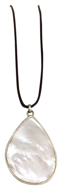 Item - Brown Mother Of Pearl Leather Cord Adjustable Necklace