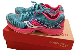 Saucony Blue and Bright Pink Athletic