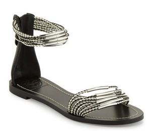 Tory Burch ivory/black Sandals
