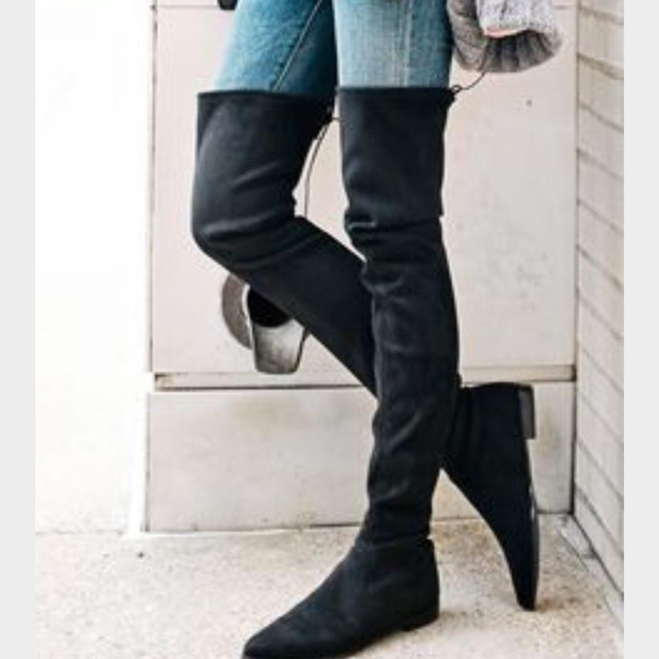 23e072c725e Stuart Weitzman Black Lowland Velvet Leggylady Over The Knee Boots ...