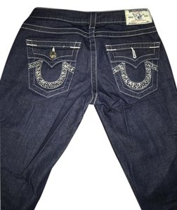 True Religion Made In Usa Flap Pocket Boot Cut Jeans-Dark Rinse