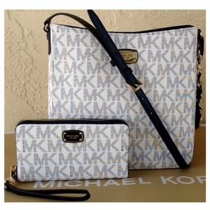 Michael Kors Navy/White Messenger Bag