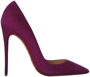 Christian Louboutin High Suede Purple Pumps