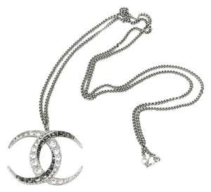 Chanel Chanel Brand New Silver CC Moonlight Large Pendant Long Necklace