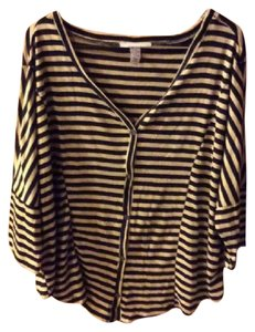 Style & Co Top Black & Cream