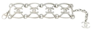 Chanel Chanel Brand New Silver CC Thick Bracelet