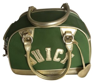 Juicy Couture Dog Leather Pet Carrier Tote in Green