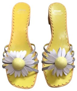 Moschino brown, grey, yellow Sandals