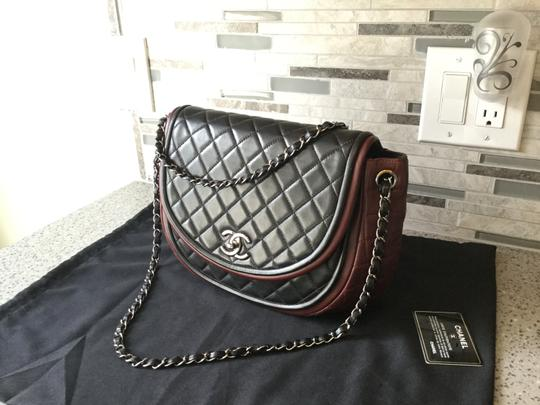 Chanel Half Moon Crossbody Quilted Chain Shoulder Bag
